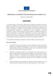forum de la société civile des balkans occidentaux - Vers une paix ...