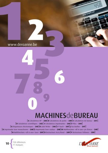 MACHINESdeBUREAU - Deroanne