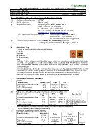 BEZPEČNOSTNÍ LIST /v souladu s příl. II nařízení ES 1907 ... - Novato