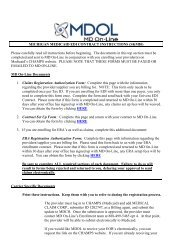 MICHIGAN MEDICAID EDI CONTRACT ... - MD On-Line