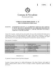 Deliberazione n° 26 del 28/11/2011 - Comune di Novedrate