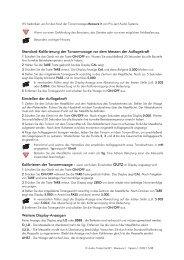 Standard-Kalibrierung der Tonarmwaage vor dem ... - MW-AUDIO