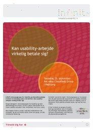 Kan usability-arbejde virkelig betale sig? - InfinIT