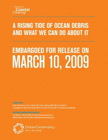 A Rising Tide of Ocean Debris and What We Can Do About It