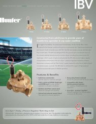 IBV Brochure - Hunter Industries