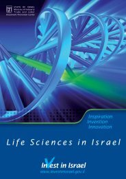 Israel Life Sciences overview 2010 - Israel Trade Commission ...