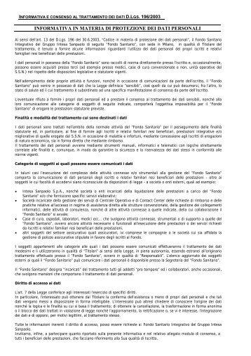 scarica il file - Fondo Sanitario Integrativo del gruppo Intesa Sanpaolo