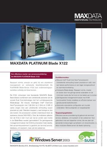 MAXDATA PLATINUM Blade X122