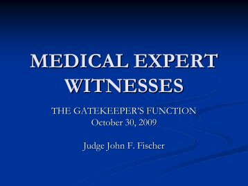 Expert Medical Testimony - Oklahoma State Medical Association