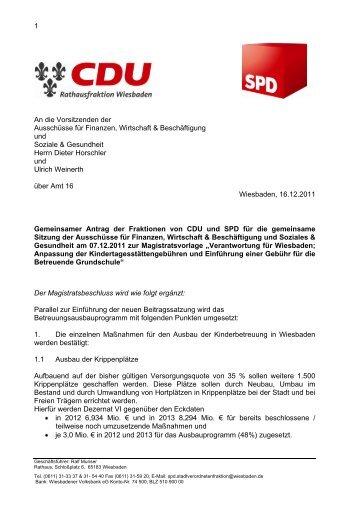 1 An die Vorsitzenden der Ausschüsse für ... - SPD Wiesbaden