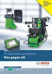 Prüftechnik von Bosch: Neu gegen alt - Bosch - Werkstattportal