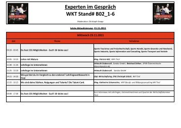Experten im Gespräch WKT Stand# B02_1-6 - VISIO-Tirol