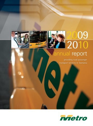 Annual Report for 2009/10 - Metro Tasmania