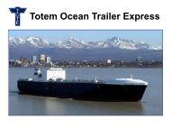 The New Orca Class Ro/Ro for TOTE's Alaskan Service
