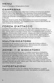 Importanti avvertenze per la salute relative all'utilizzo ... - Call of Duty - Page 5