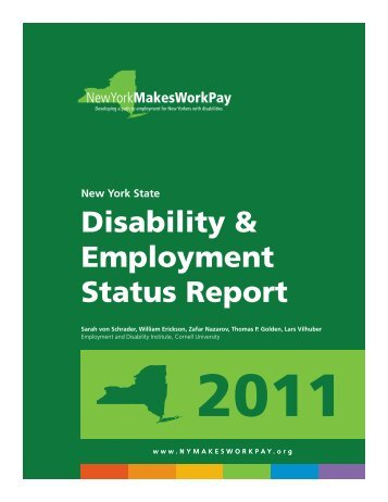 Disability & Employment Status Report - Home - Cornell University