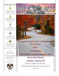 the scottish rite news - jan/feb 2013 - Valley of San Antonio