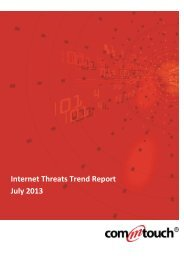 Internet Threats Trend Report July 2013 - Commtouch