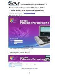 1 Manual Aduan Masalah Penggunaan Sistem MPIS ( SKU dan ...