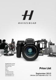 hasselblad uk ltd - price list september 2012 - v1 - Pro Centre
