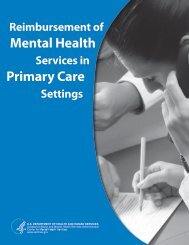 Reimbursement of Mental Health Services in Primary Care Settings
