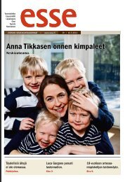 Anna Tikkasen onnen kimpaleet - Espoon seurakuntasanomat