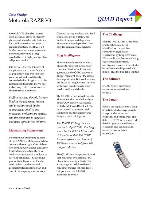 motorola and the razr case study