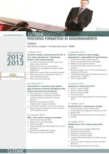 Percorso Formativo Eutekne 2012/2013 - Ordine dei Dottori ...