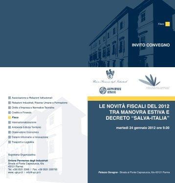 novita' fiscali 2012 - Ordine dei Dottori Commercialisti e degli Esperti ...