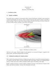 Kinematics of the Milky Way I