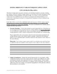 Zoning Ordinance Variance Request Application ... - City of Hiawatha