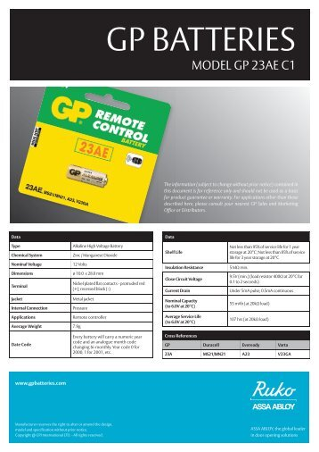 gp batteries - Ruko