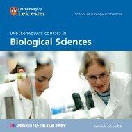 Undergraduate Courses in Biological Sciences - University of ...