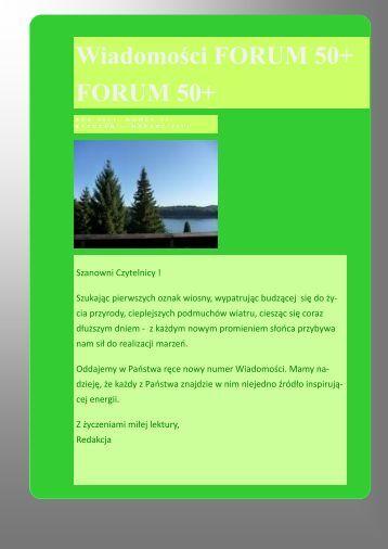 Suplement Optymistyczny - forum50+ seniorzy XXI wieku