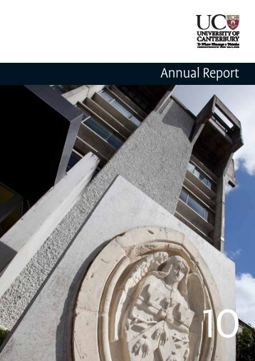 Complete 2010 Annual Report - University of Canterbury