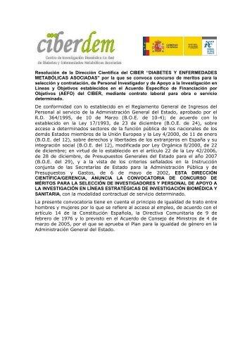 Dr. Jorge Ferrer, Institut d'Investigacions Biomèdiques ... - Ciberdem