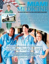 The Official Publication of the Dade County Medical Association ...