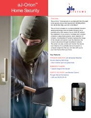 aJ-Orion™ Home Security - aJile Security - aJile Systems