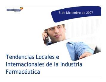 Tendencias Locales e Internacionales de la Industria Farmacéutica