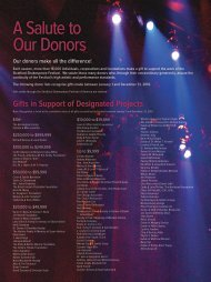 A Salute to Our Donors - Stratford Festival