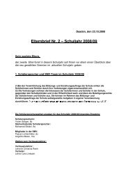 Elternbrief Nr. 2 – Schuljahr 2008/09 - Hermann-Gmeiner-Schule