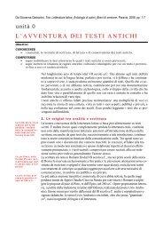 L'avventura dei testi antichi - Il sito di Annamaria De Simone