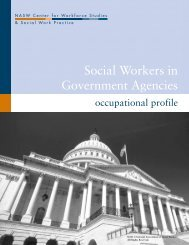 Social Workers in Government Agencies - Center for Workforce ...
