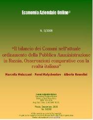 Il bilancio dei Comuni nell'attuale ordinamento della ... - Riviste
