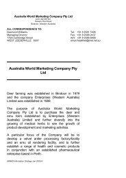 Australia World Marketing Company Pty Ltd - Associazione Italia ...