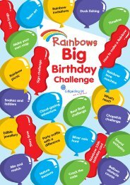 Rainbow Big Birthday Challenge Resource Pack - Shropshire Guiding