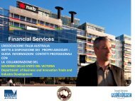 Why Melbourne for Financial Services? - Associazione Italia-Australia