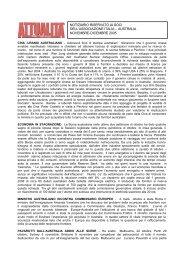 notiziario riservato ai soci dell'associazione italia – australia ...