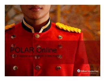 POLAR Online - Holland America Line