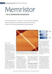 - en ny elektronisk komponent - Aktuel Naturvidenskab